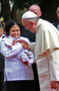 pope francis mother baby