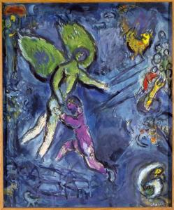 Jacob Wrestling God (image: Marc Chagall)