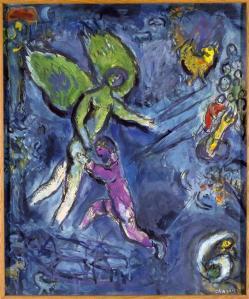 Jacob Wrestling God (image: Marc Chagall)